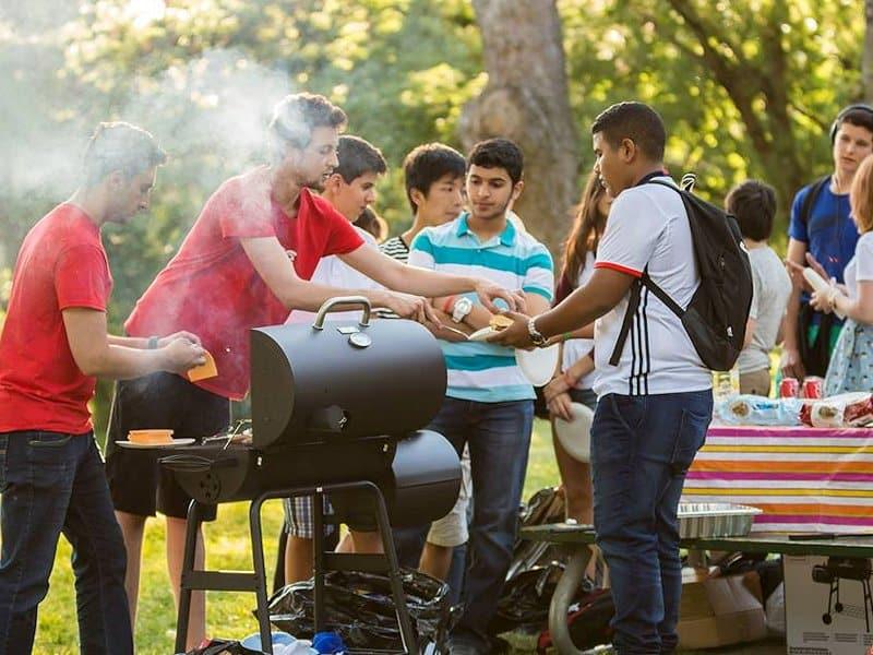 Barbecue party sur Toronto Islande