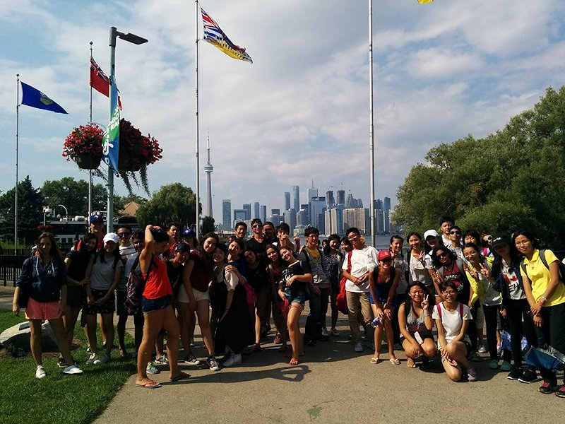 Excursion avec groupe d'étudiants internationaux au Canada