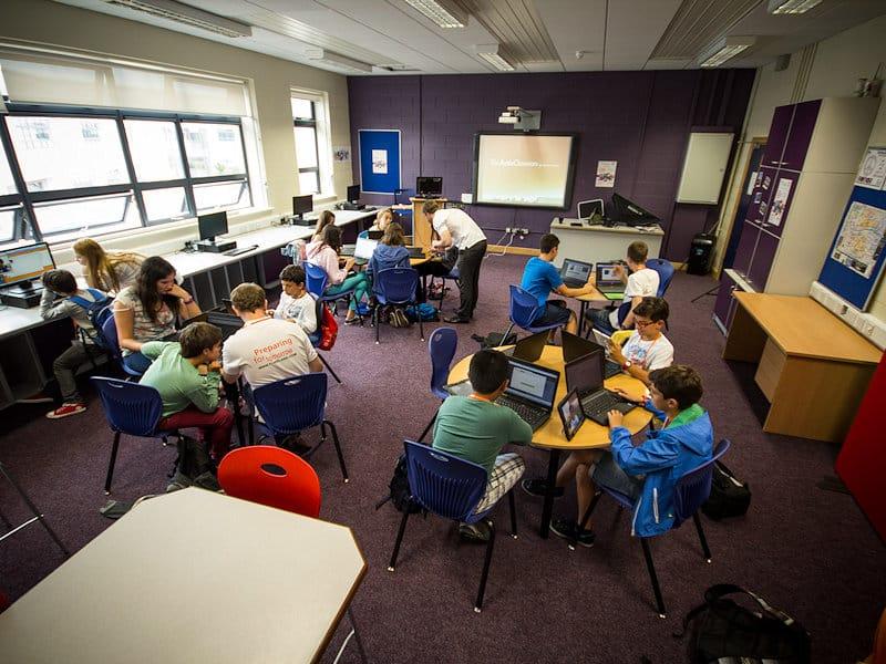 Séjour linguistique en Irlande, salle de classe