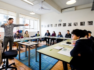 Zélande à Wellington - cours d'anglais interactifs en groupe de même niveau mais de nationalités différentes