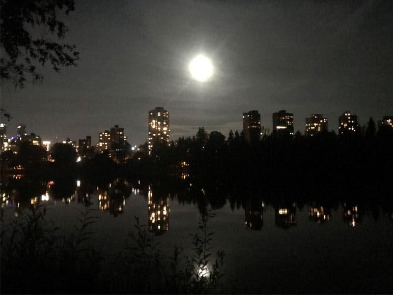 Vu de Vancouver de nuit