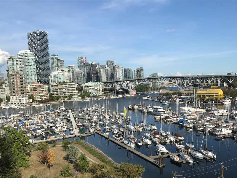Vue de Vancouver au Canada