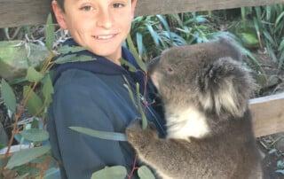 Esteban avec un Koala