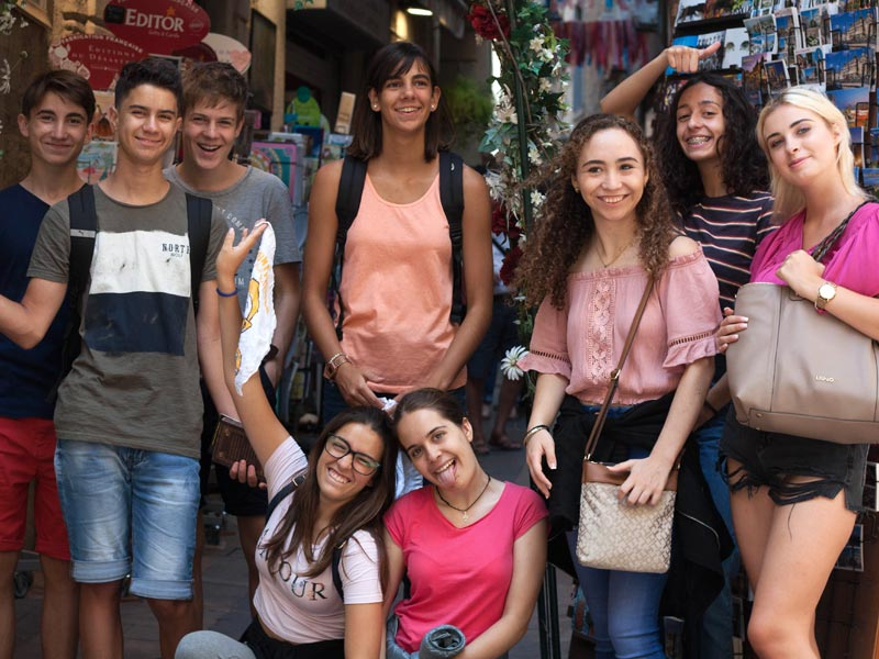 Group of exchange student in France