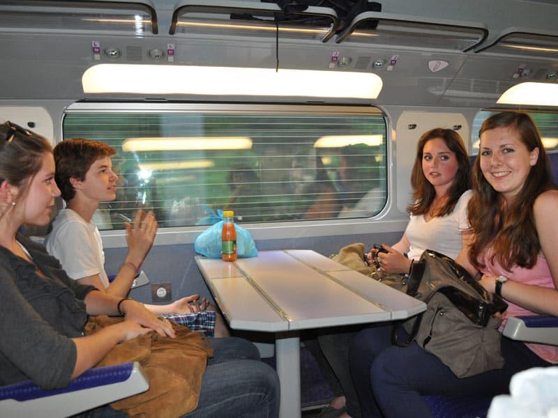 train travel to Paris
