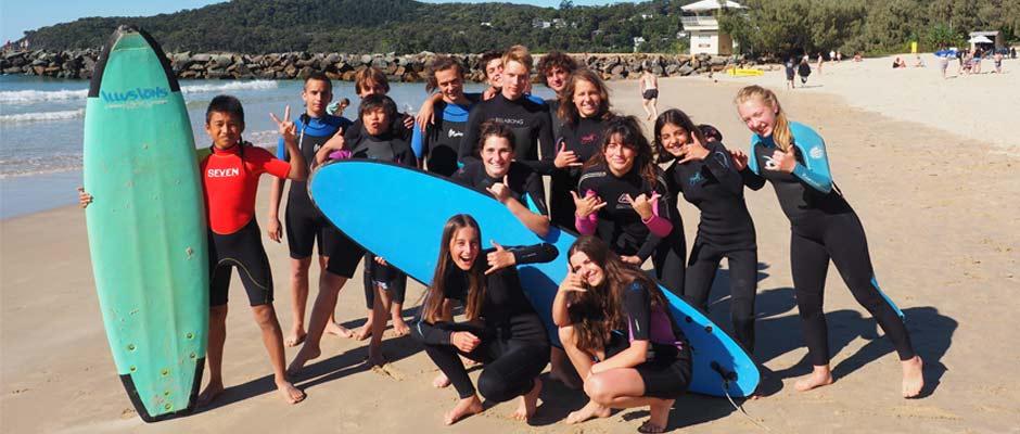 Ecole de langue Australie surf