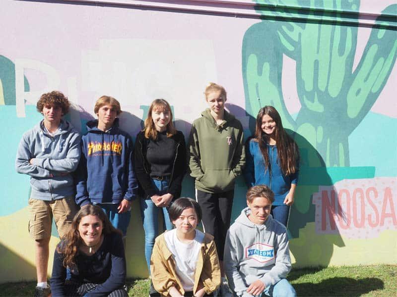 Groupe d'étudiants en Australie