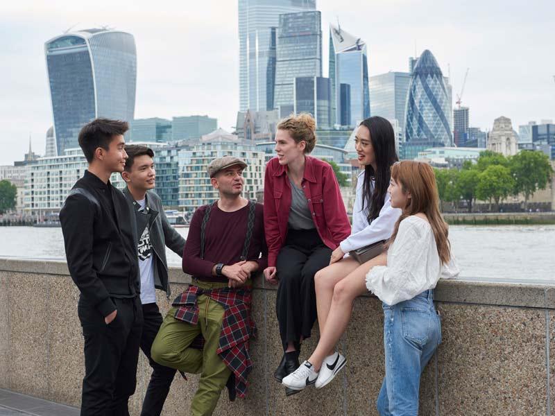 Etudiants à Londres