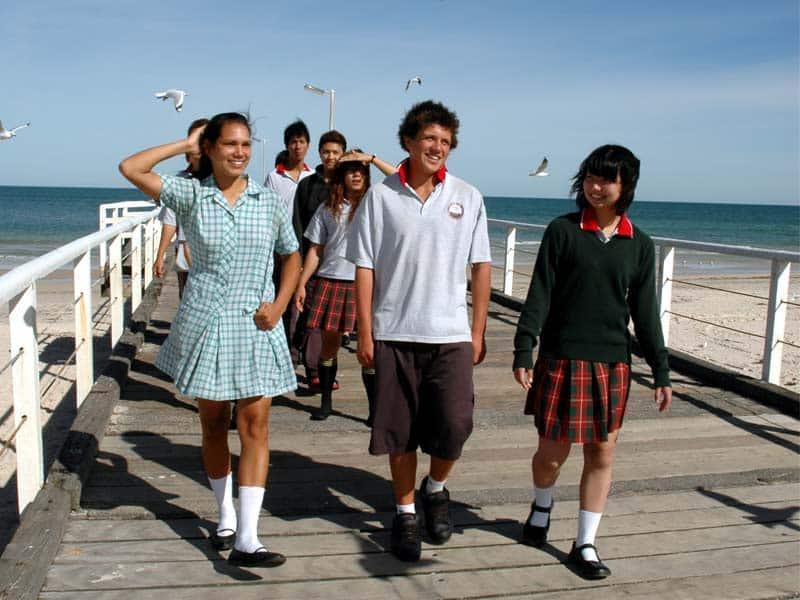 groupe de lycéens australien