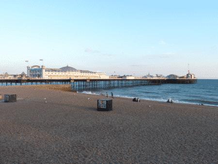 vue sur la plage de Brighton