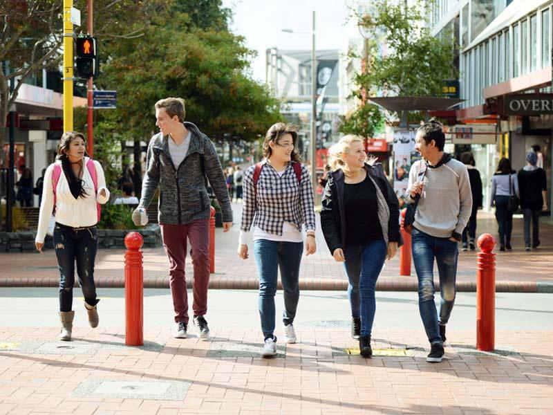 Groupe d'étudiants en Nouvelle Zélande