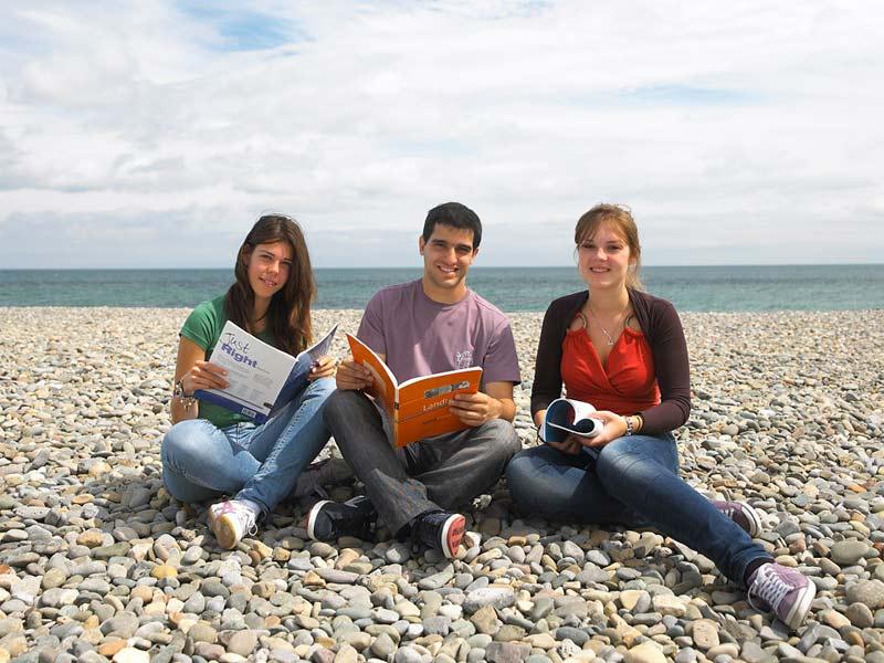 séjour linguistique élèves plage Bray